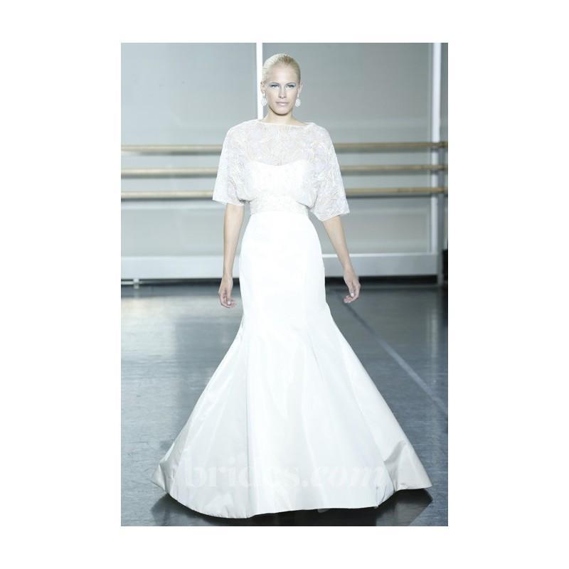 Wedding - Rivini - Fall 2013 - Etrine Silk Faille and Organza Trumpet Wedding Dress with a Crystal Beaded Blouse - Stunning Cheap Wedding Dresses