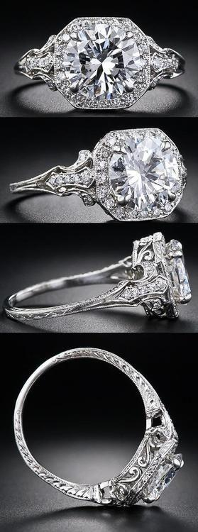 زفاف - Diamond Rings: Antique/vintage.