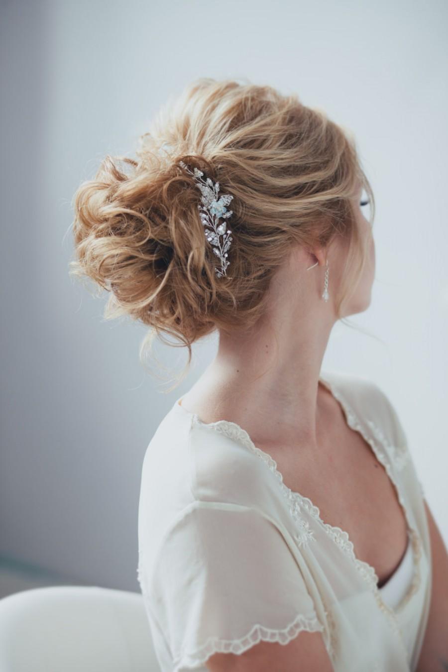 Hochzeit - Bridal Hair Pin Bridal Hair Adornment Wedding Hair Piece Bridal Hairpiece Wedding Hair Pin ONE HAIR PIN