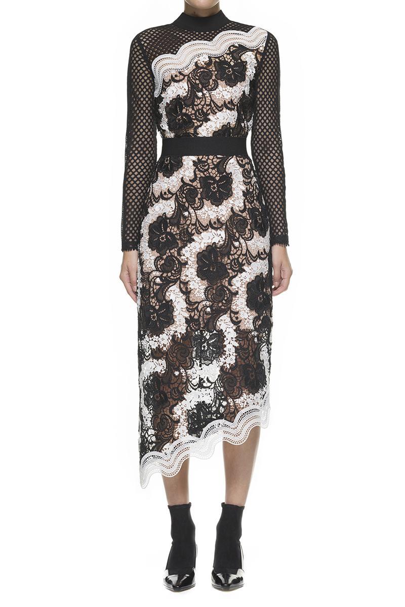 Wedding - Self-Portrait Asymmetric Midi Dress