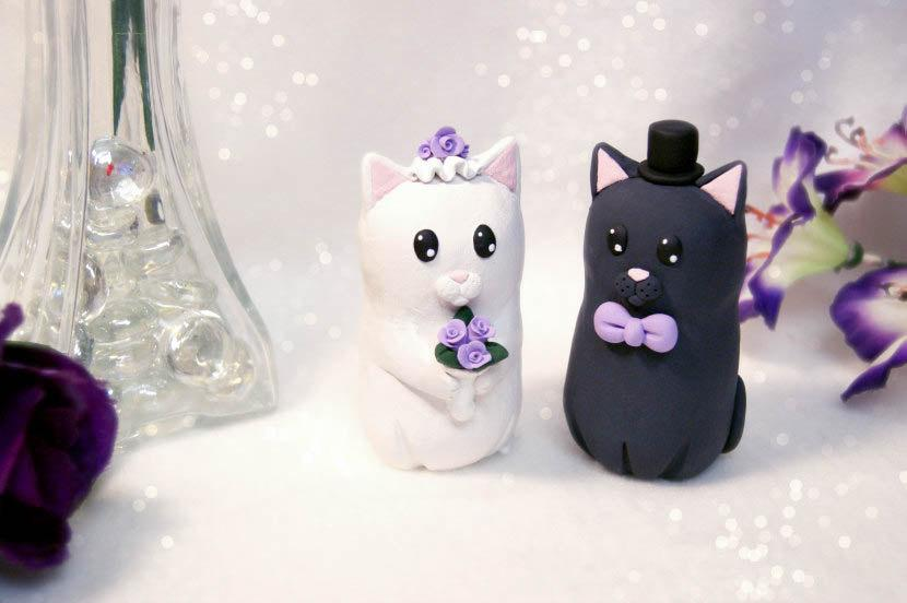 Nozze - Cat Wedding Cake Toppers
