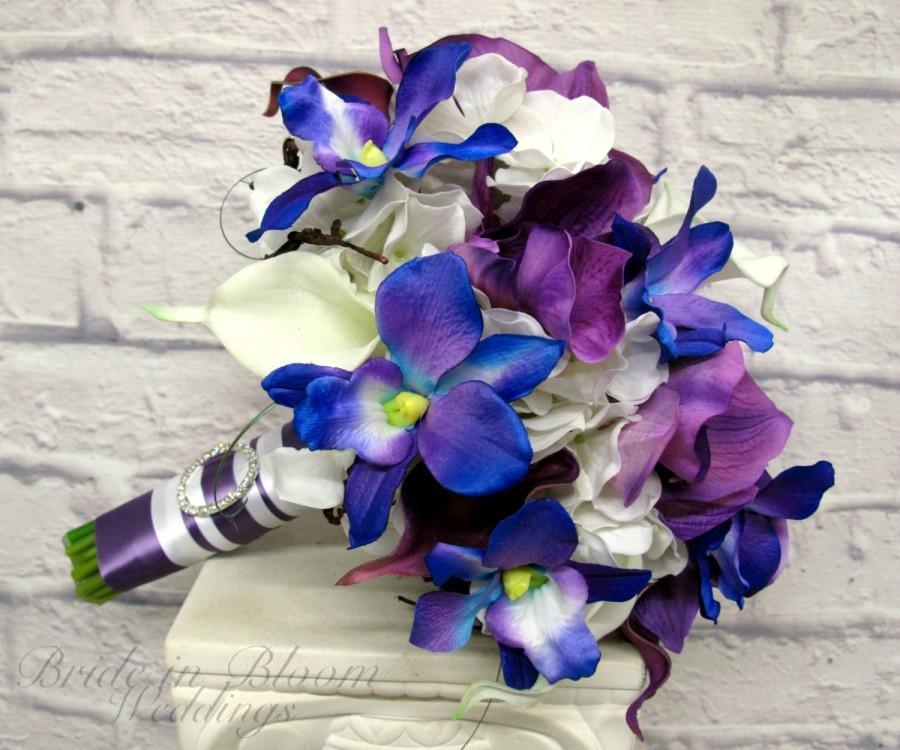 Dekor - Blue Orchid Wedding Bouquet #2639660 - Weddbook