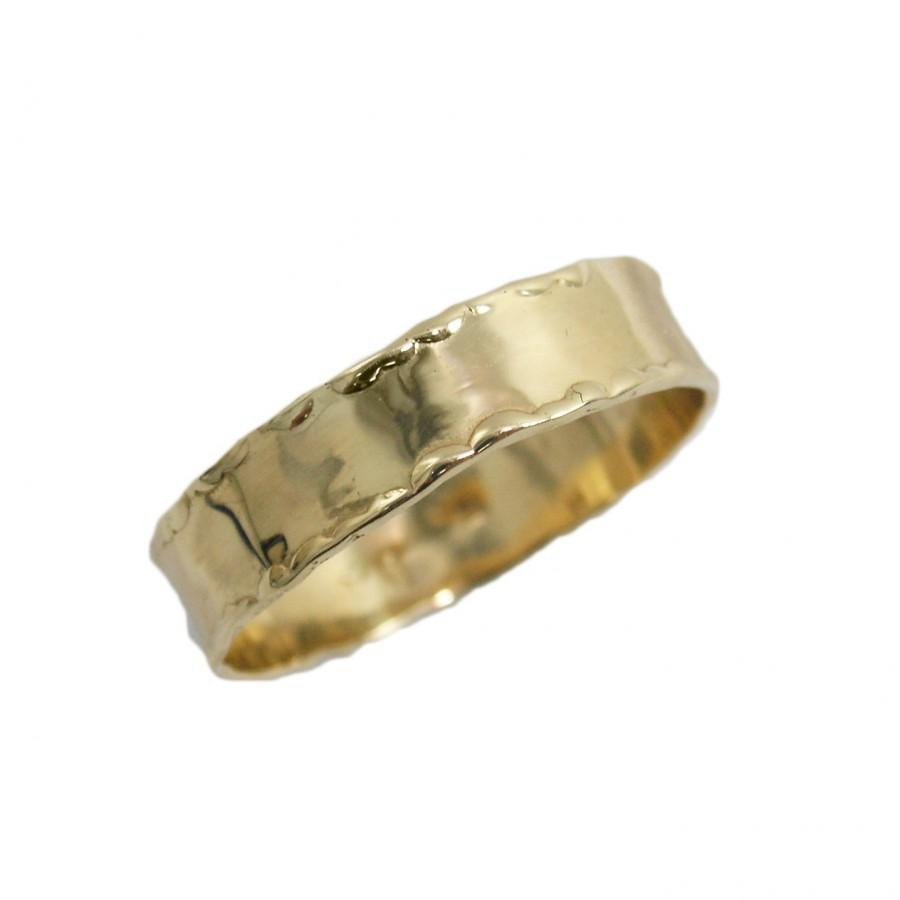 Mariage - 14K gold yellow gold wedding band. Unique wedding ring with curvy edges (gr-9376-854).  gold wedding band for men women, yellow gold,