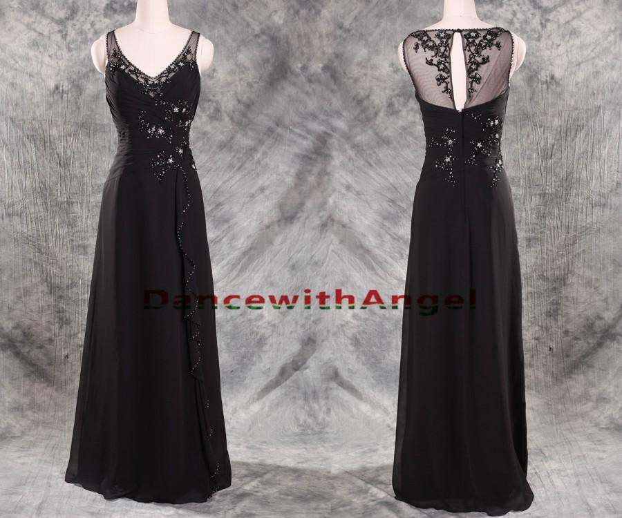 Свадьба - Sexy lace beaded long black party prom dresses,prom dress,long prom dress,bridesmaid dresses,evening dresses,bridesmaid dress,evening dress