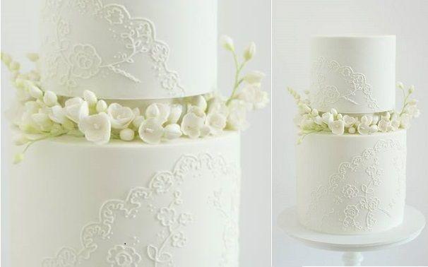 Wedding - White Wedding Cake