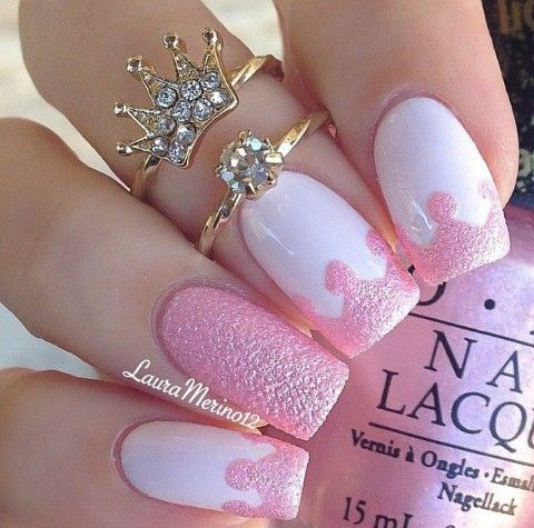 Nagel Cute Pink Nail Art Design 2639864 Weddbook