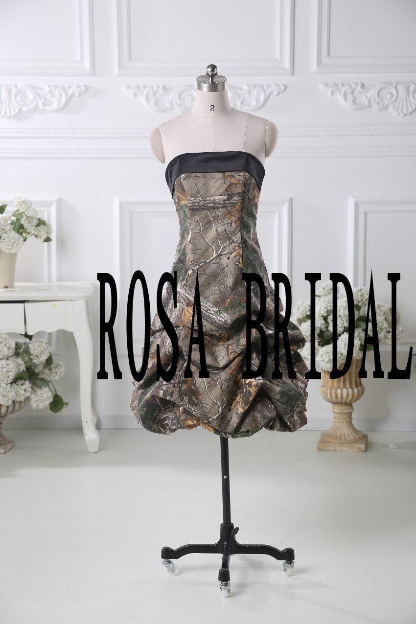 Wedding - Camo bridesmaid dress, Camouflage wedding dress, Camo wedding prom dress party gown Custom Size