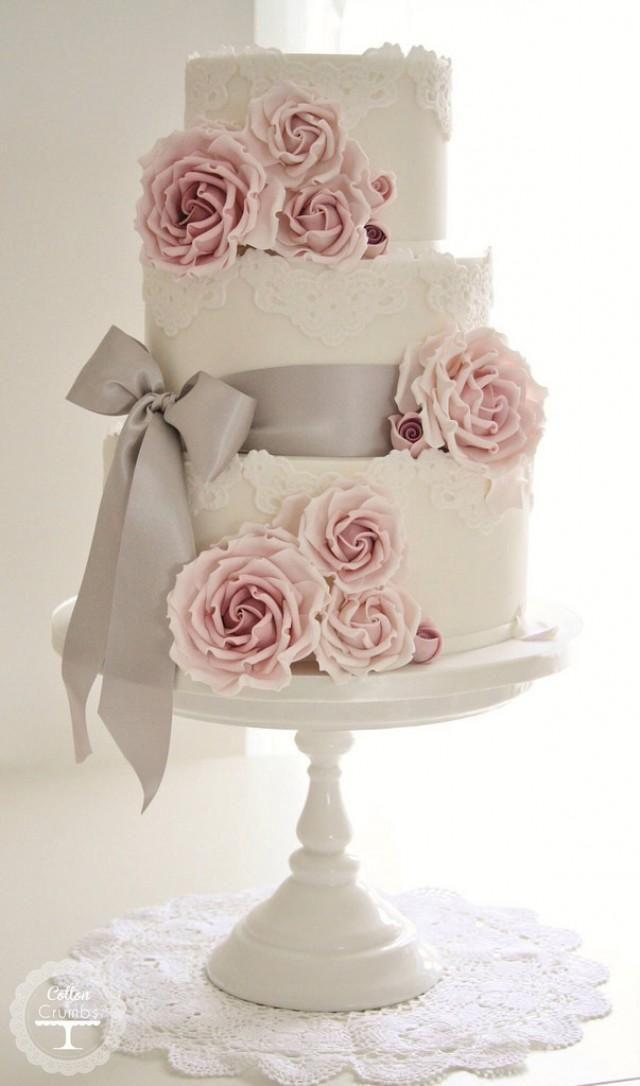 Wedding - sweet yummy rose wedding cake