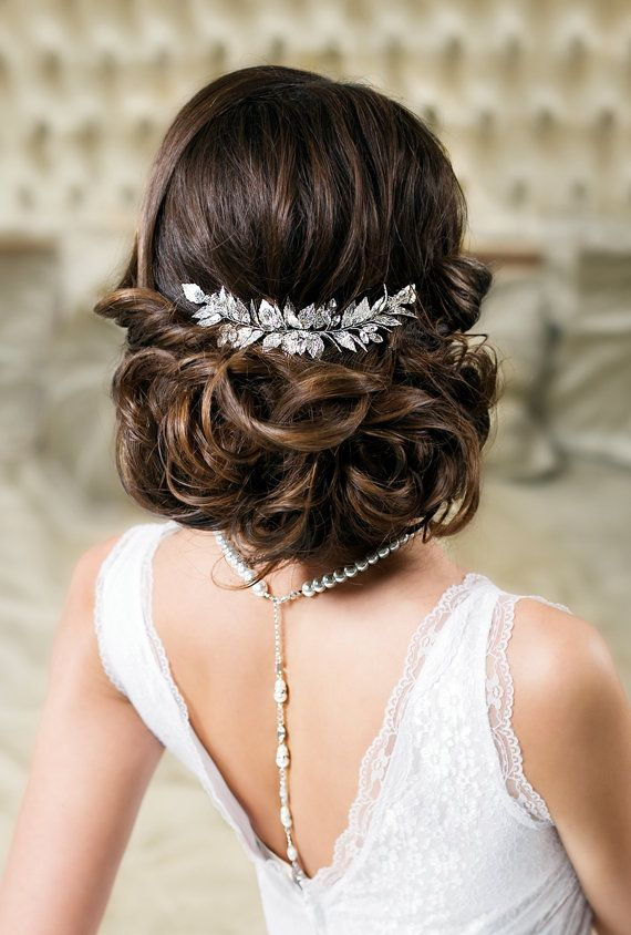 Leaf Hair Comb Bridal Comb Wedding Hair Piece Grecian Leaf