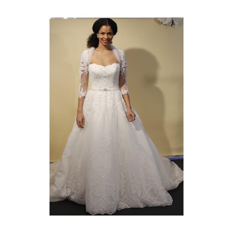 زفاف - James Clifford - Spring 2014 - Style J21323 Two-Piece Ball Gown with Lace Appliques - Stunning Cheap Wedding Dresses