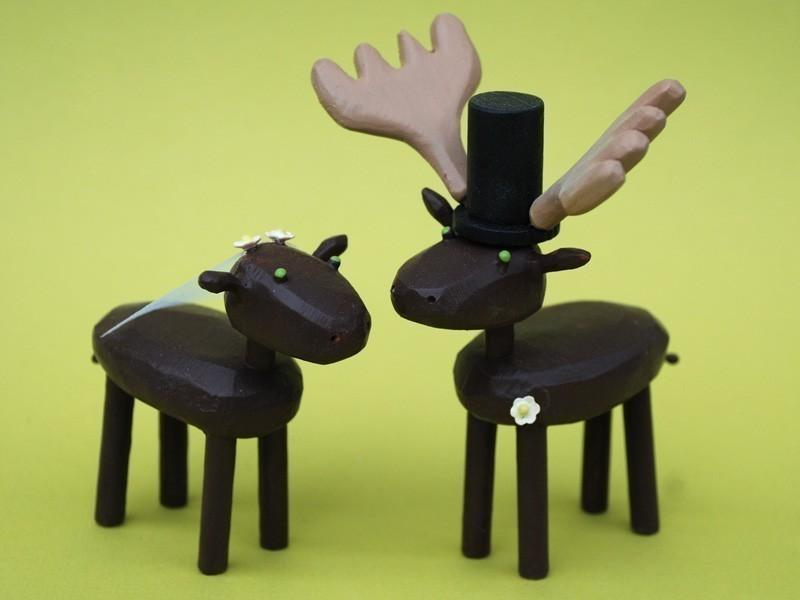 Hochzeit - Bride and Groom Mooses for your Wedding Cake