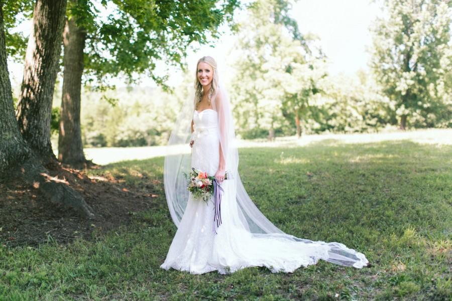 Mariage - Lace Wedding Veil - Cathedral Veil - Lace Veil - Alencon Lace - BEST SELLER