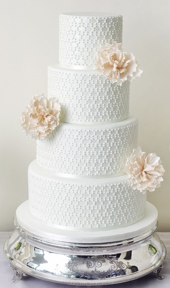 Wedding - White Wedding Cake