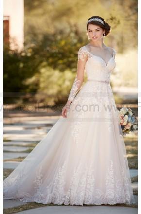 Свадьба - Essense of Australia A-Line Wedding Dress With Organza Skirt Style D2145