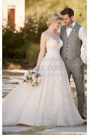 62ad0c34388 Essense of Australia Ball Gown Wedding Dress With Tulle Skirt Style D2126