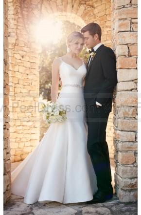 زفاف - Essense of Australia Fit And Flare Wedding Dress With Keyhole Back Style D2177