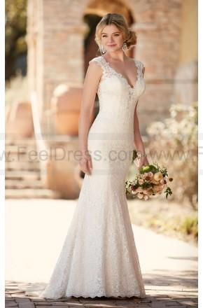 Boda - Essense of Australia Sheath Wedding Dress With Lace Style D2159