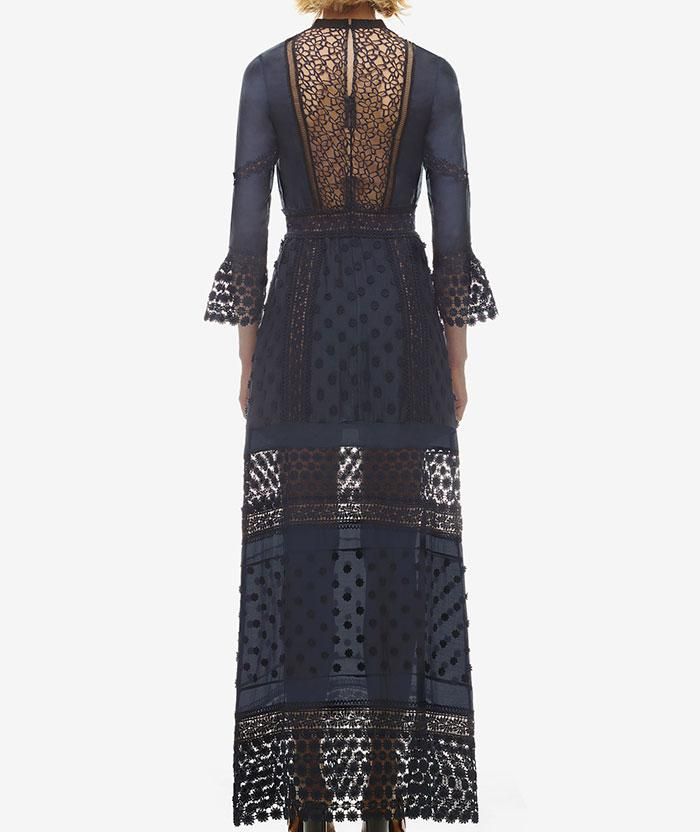 Düğün - Self Portrait Spring Lace Long Sleeved Pleated Dress