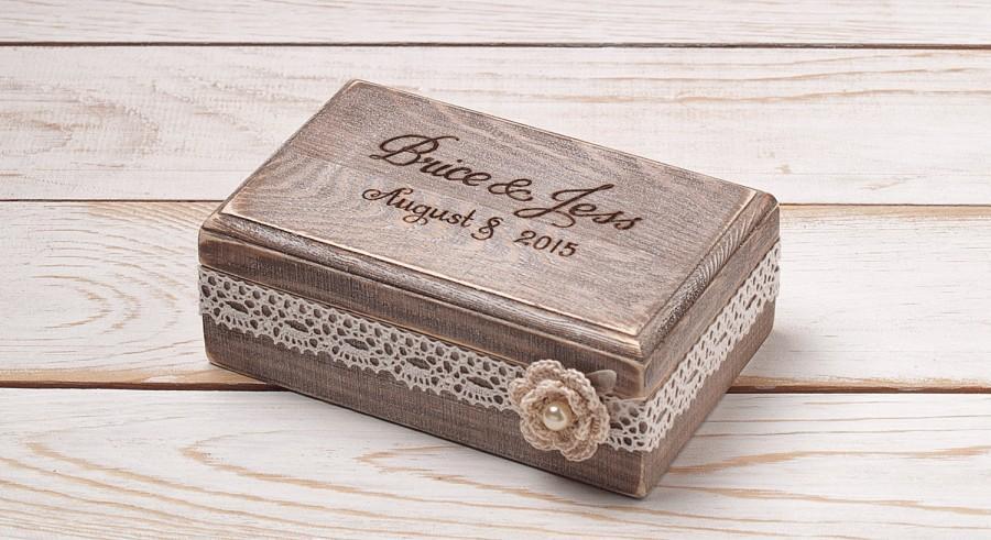 Свадьба - Wedding Ring Box Ring Bearer Box Ring Box Ring Holder Rustic Wedding