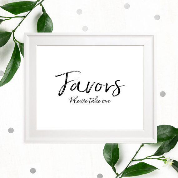 زفاف - Stylish Hand Lettered Printable Favors Sign-Calligraphy Wedding Favor-DIY Handwritten Style Wedding Ceremony Reception Sign-Please take one