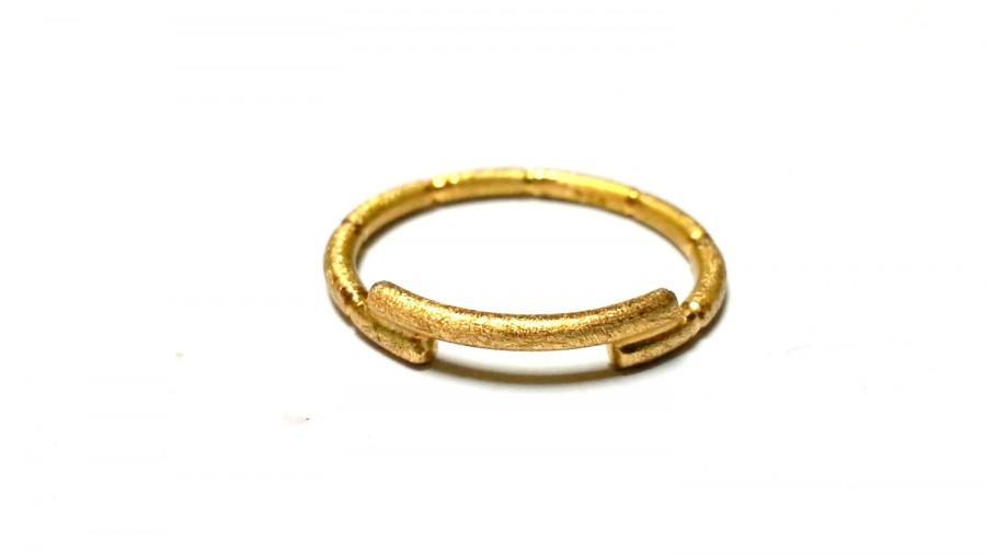 زفاف - Unique Wedding Ring Wedding Band Jewelry Thin Gold Ring Soid Gold Engagement Ring Promise Ring Stackable Stacking Stack Ring Delicate