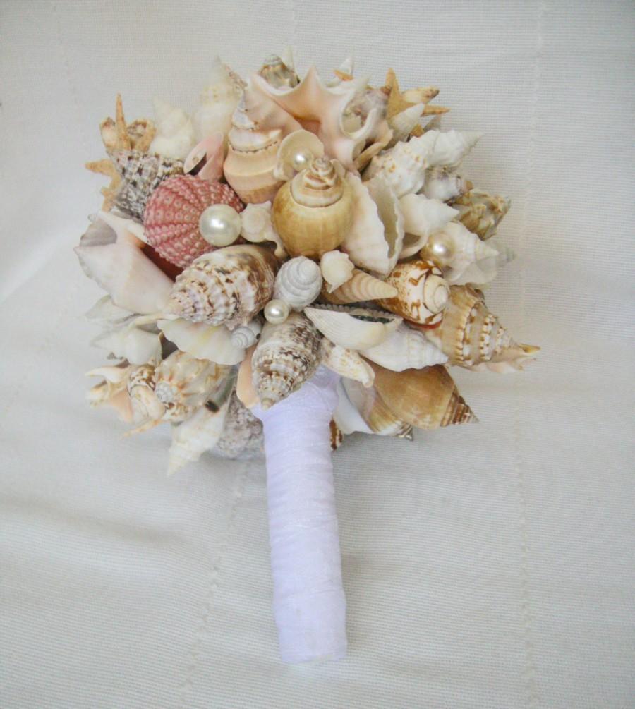 Bridal Bouquet Sea Starfish Wedding Bouquet Handmade Sea Shell Bouquet Beach Wedding