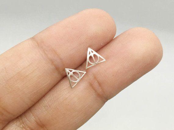 Harry Potter Stud Earrings Sterling Silver Harry Potter Deathly