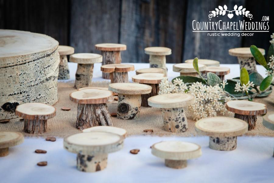 Wedding - 15 Rustic Cupcake Stands ~ Individual Cupcake Stands ~ Spring Wedding