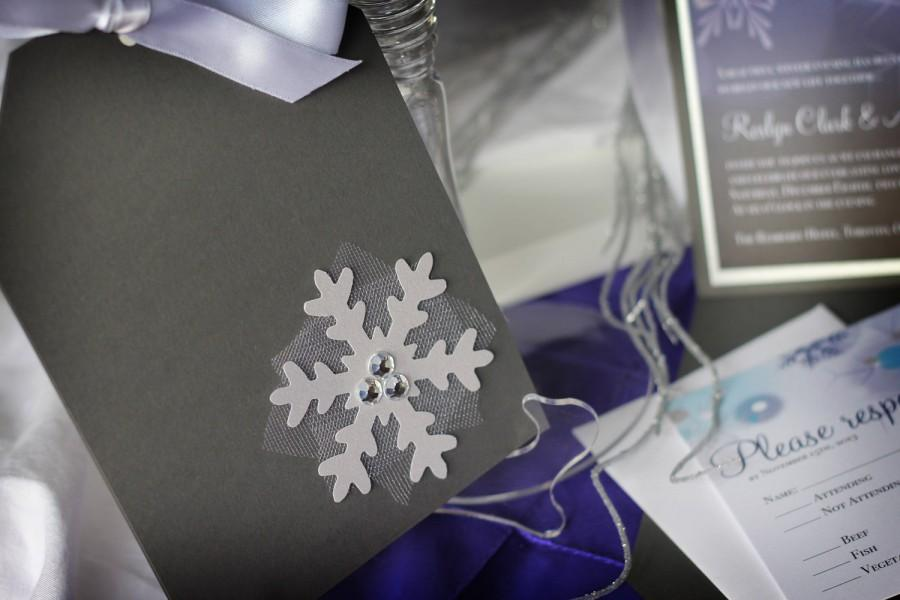Mariage - Unique winter wedding invitation package - Enchanted Winter Wonderland – Deposit Listing