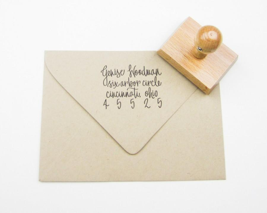 Mariage - Custom Address Stamp - return address stamp - address stamp - personalized - calligraphy address stamp - hand lettered A0005