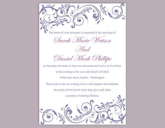 DIY Invitation Template Jeppefmtk - Printable wedding invitation templates
