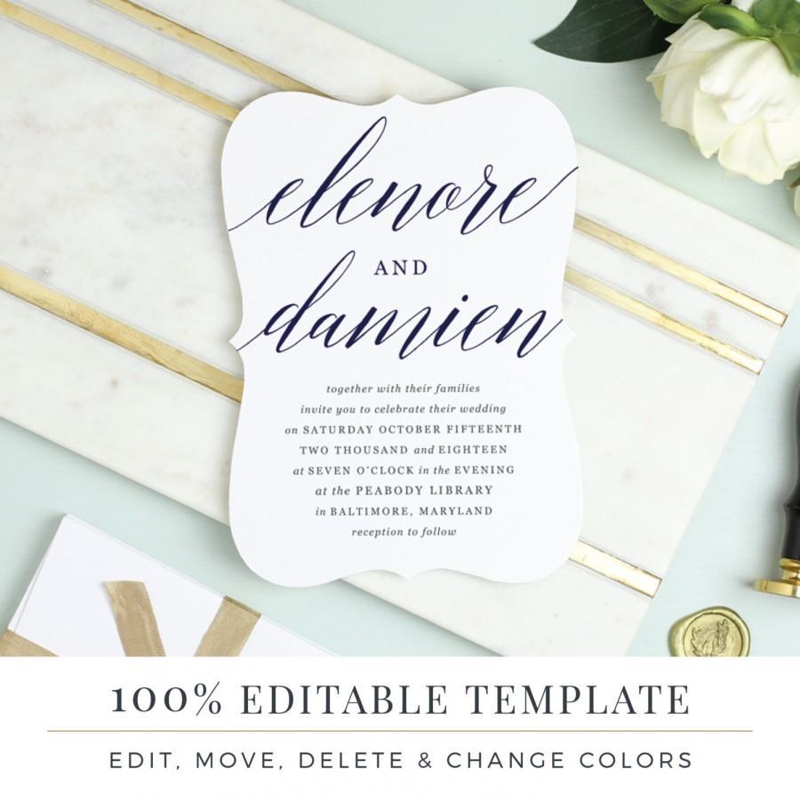 Hochzeit - Printable Wedding Invitation Template