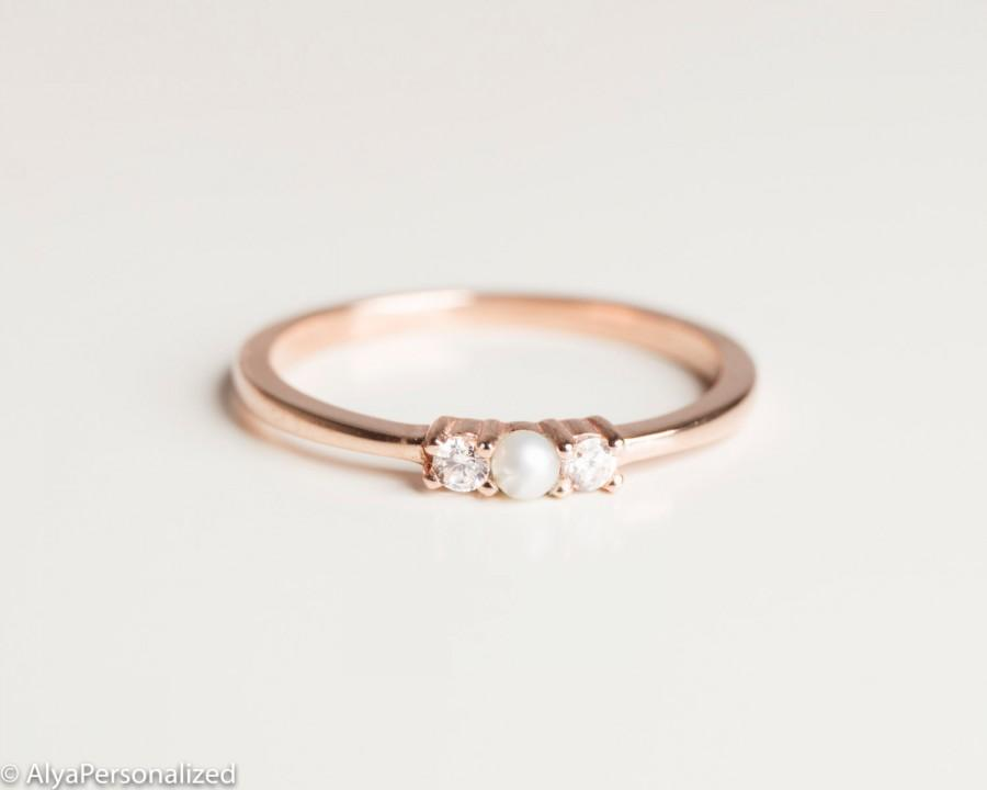 Anniversary Ring Simple Ring Band Thin Rose Gold Ring Engagement Ring S