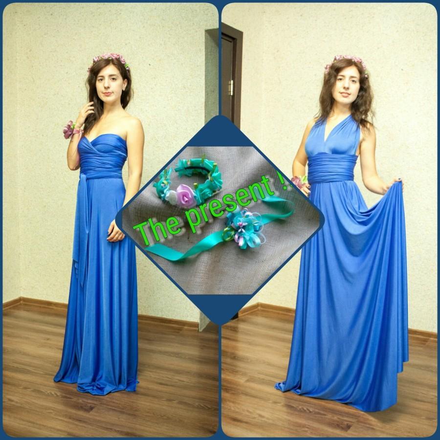 زفاف - Infinity bridesmaid dress, Сonvertible bridesmaid dresses, Wrap dress, Prom dress, twist wrap dress long, short sleeveless dress