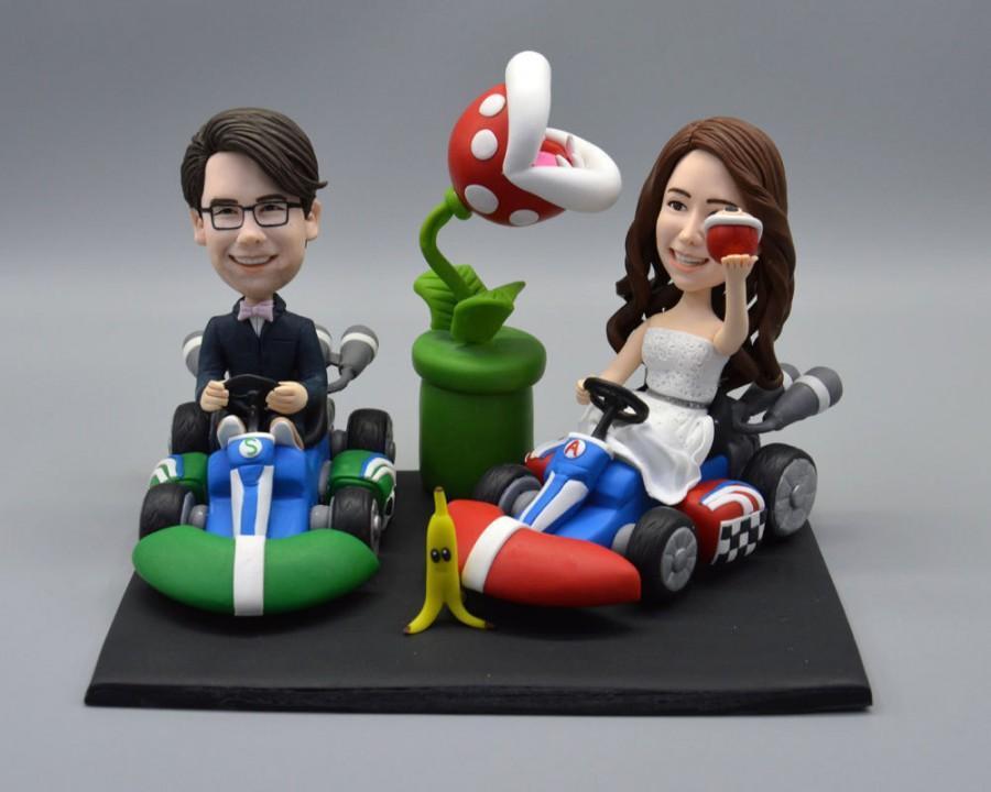 Свадьба - Wedding Cake Topper Kart Racing Game Gaming Boy Figurine Figure Wedding Party Idea