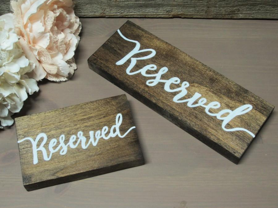 Mariage - Wood reserved sign, reserved, reserved seating sign, wood wedding sign, rustic wedding sign, hanging reserved sign, reserved chair sign