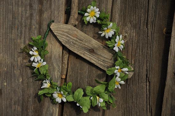 Wedding - head wreath. Wedding flower crown, Hair floral crown, Wedding Hairpiece, Rustic Head Wreath, wedding Accessories,woodland wedding