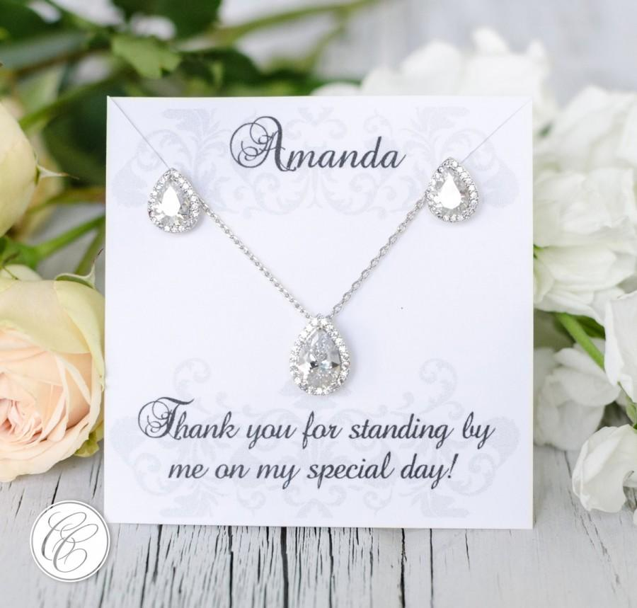 Wedding - Earring Pendant Bridesmaid Set