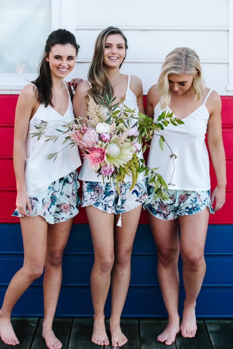 Wedding - Bridesmaid Gifts  Shorts for Brides and Bridesmaids  Will You Be My Bridesmaid  Bridesmaid Pyjamas