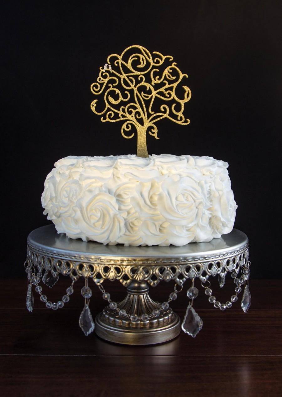 Свадьба - Wedding Cake Topper- Love Birds Tree