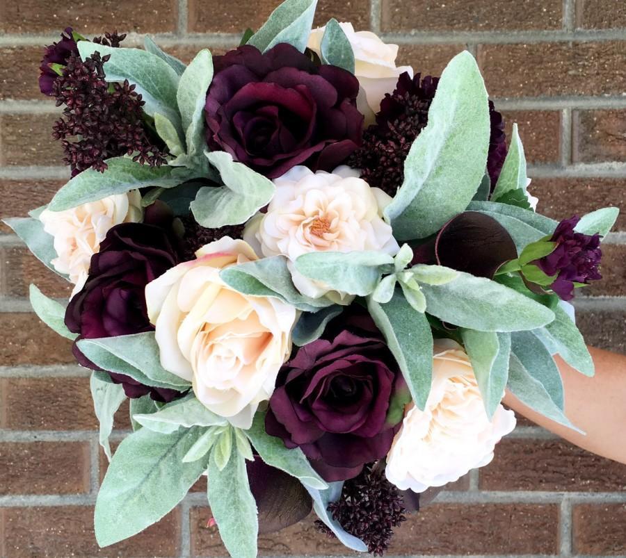Свадьба - Sage and Plum Bouquet