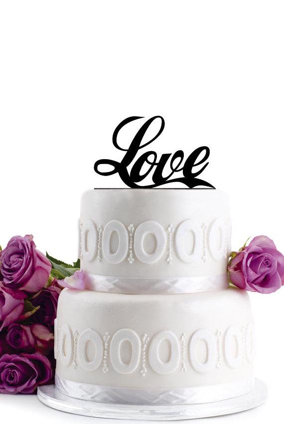 Свадьба - Wedding Cake Topper - Wedding Decoration - Cake Decor - Monogram Cake Topper - For Love - Anniversary Cake Topper - Birthday Cake Topper