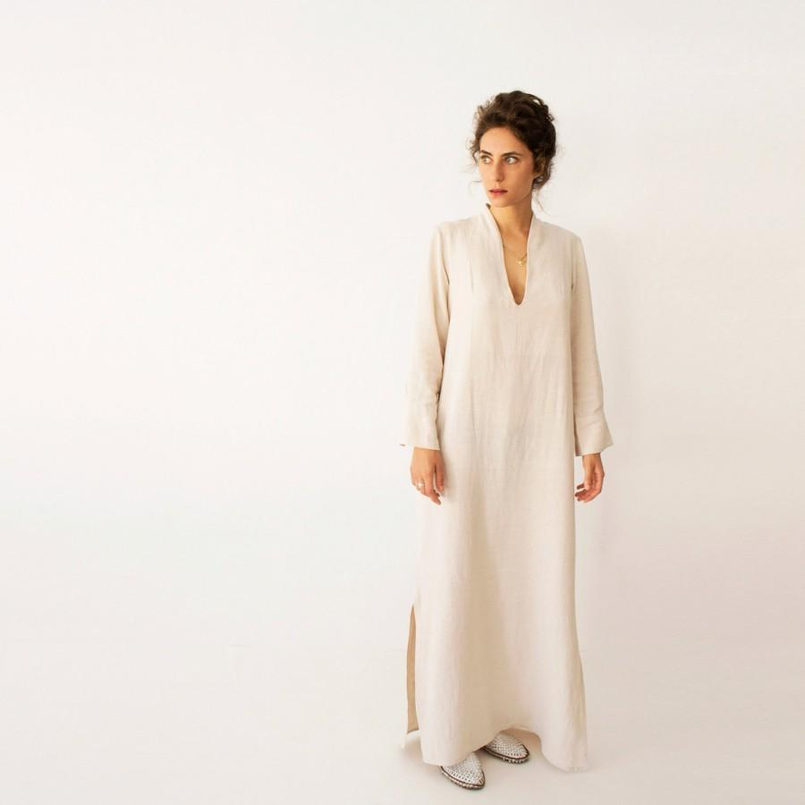 Wedding - kaftan dress, Bohemian Wedding Dress, Wedding Kaftan, Plus Size Dress, Moroccan Kaftan, Loose Wedding Dress, Maxi Dress , Beige