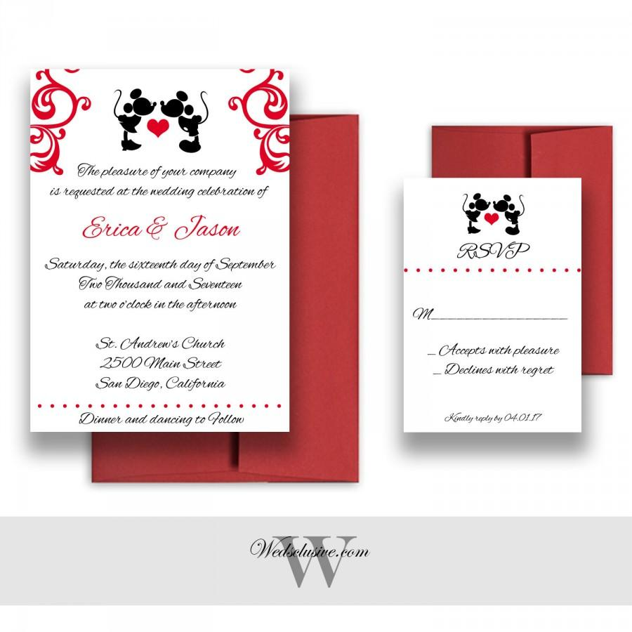 Mickey And Minnie Wedding Invitations, Disney Weddings, Fairytale ...