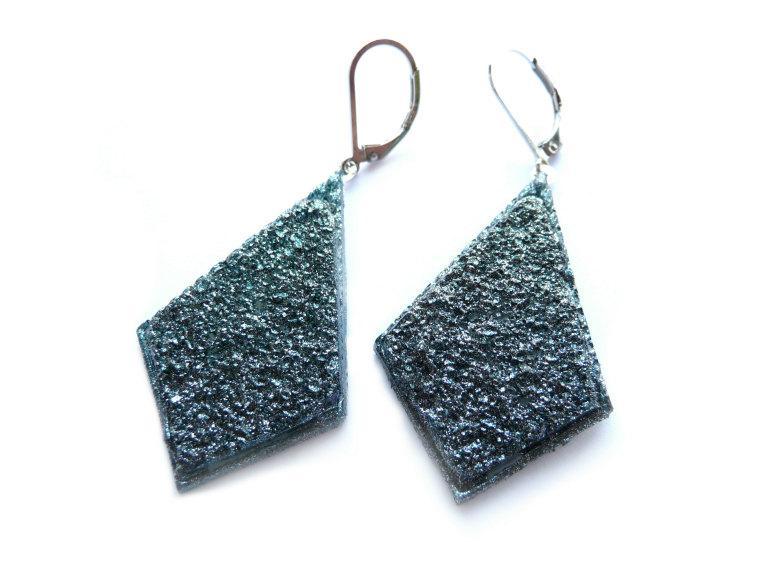 Wedding - Green Druzy Earrings, Blue Druzy Earrings, Druzy Earrings, Blue Earrings, Green Earrings, Druzy Imitation, Resin Earrings, Acrylic Earrings,