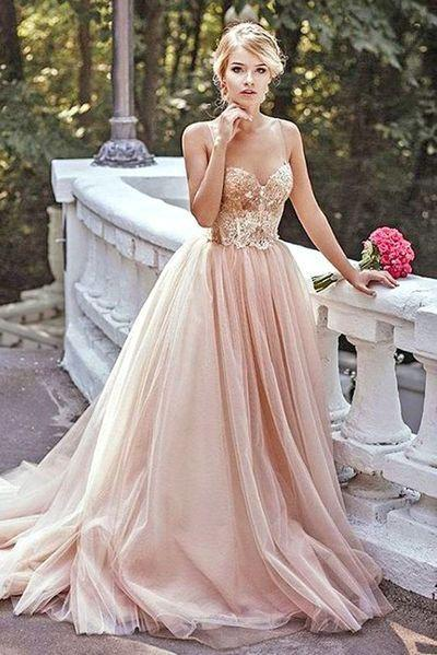 Wedding - Blush Pink Prom Dress