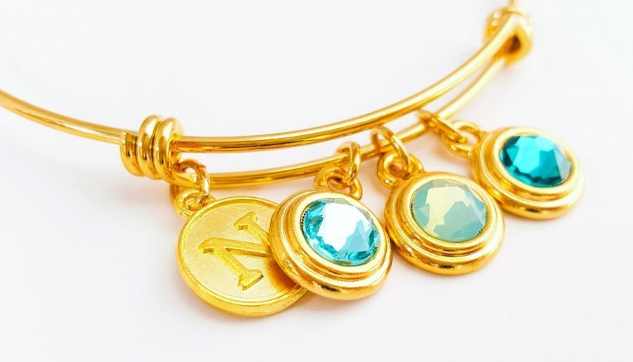Свадьба - SALE -Bridesmaid Bracelet -Bangle Bracelet -Stacking Bracelet - Wedding Bracelet - Mint Aqua Wedding - Bridesmaid Gift - Flowergirl Bracelet