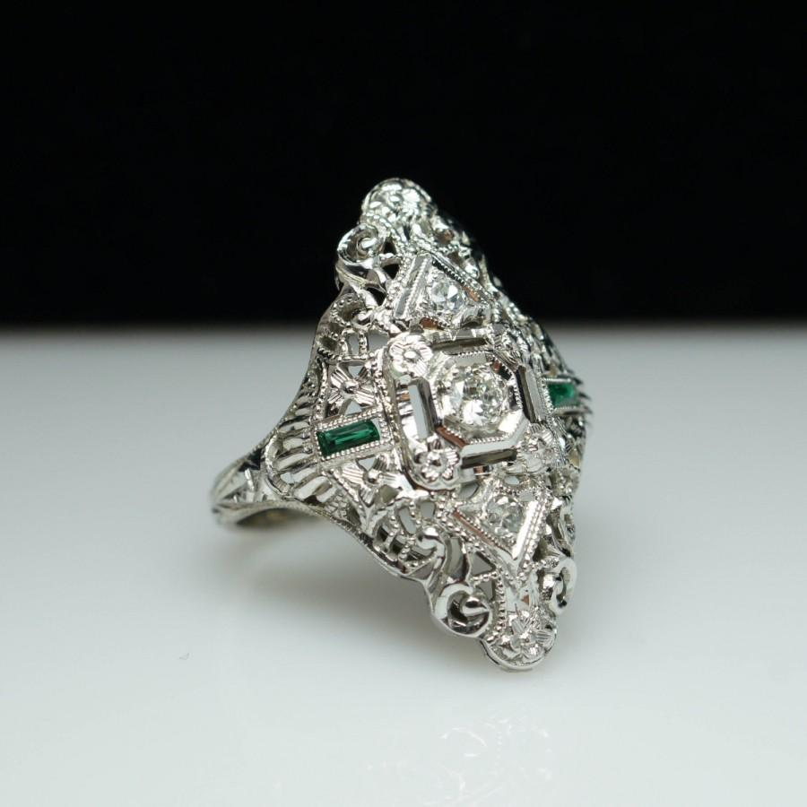 engagement ring deco usd g diamond and vintage beautiful sparkle or cocktail center media of art full filigree appraisal rings gia