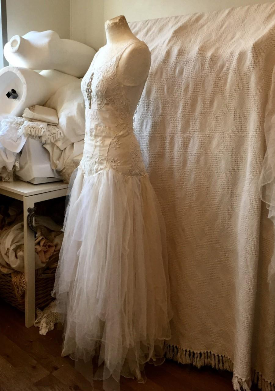 Boho Lace Wedding Dress , Unique Bridal Gown,lace Statement Wedding ...