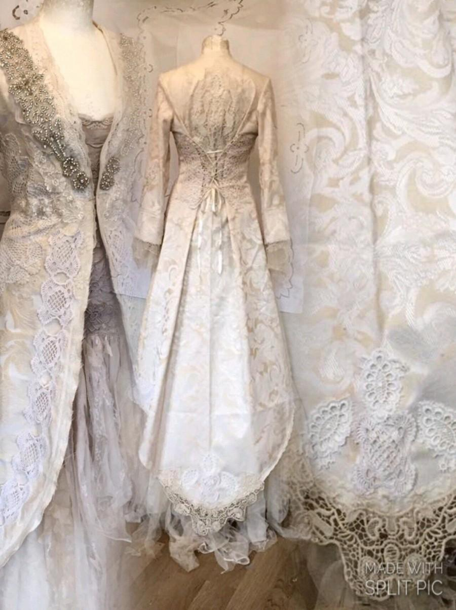 Wedding Lace Jacket , Long Bridal Coat , Unique Wedding Jacket ...